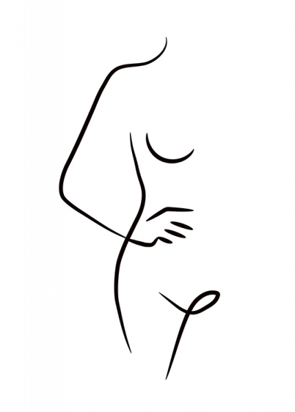 Nude Ink Drawing Poster