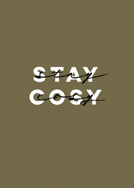 Stay Cosy Poster i gruppen  hos Desenio AB (13458)