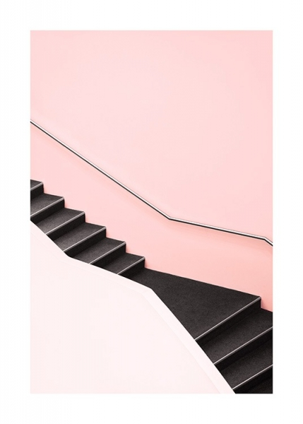 Pink Steps Poster